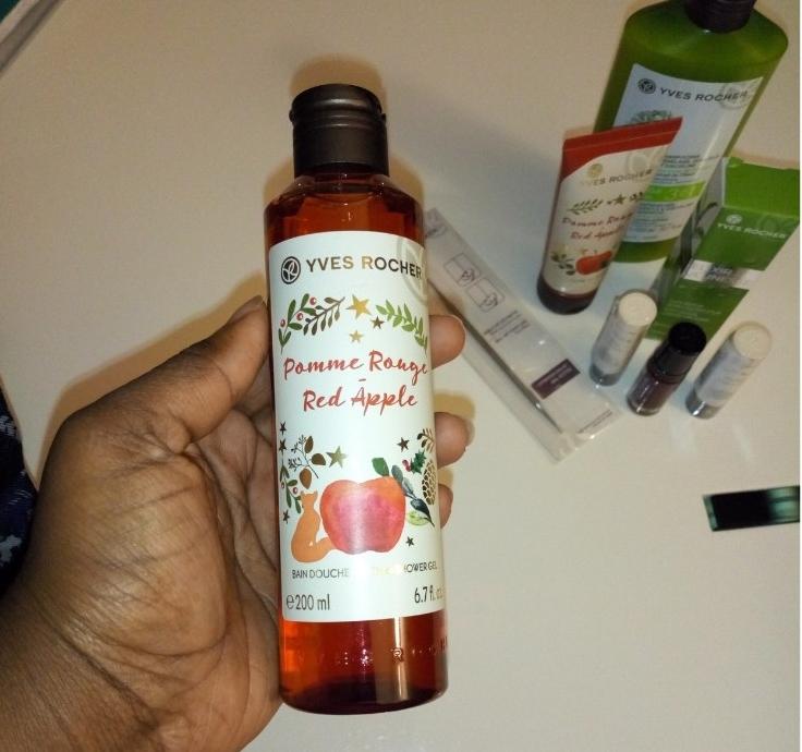 Bain Douche Pomme Rouge- Collection de Noël_yves rocher